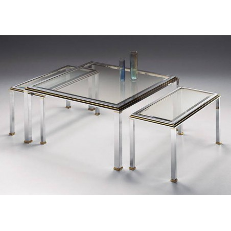 Coffee table trundle brass Milano