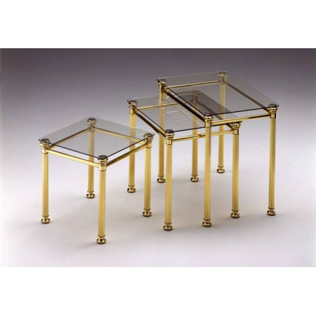 Coffee table trundle brass Verona