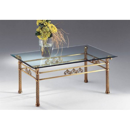 Coffee table brass Napoli