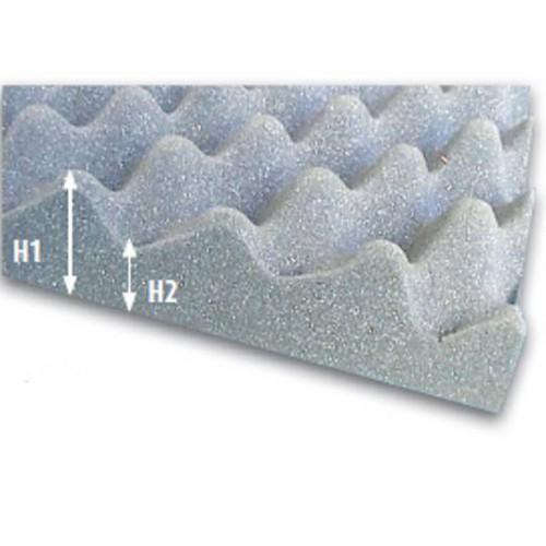 Plaque de mousse alvéolée d'insonorisation M4 150 x 200 cm