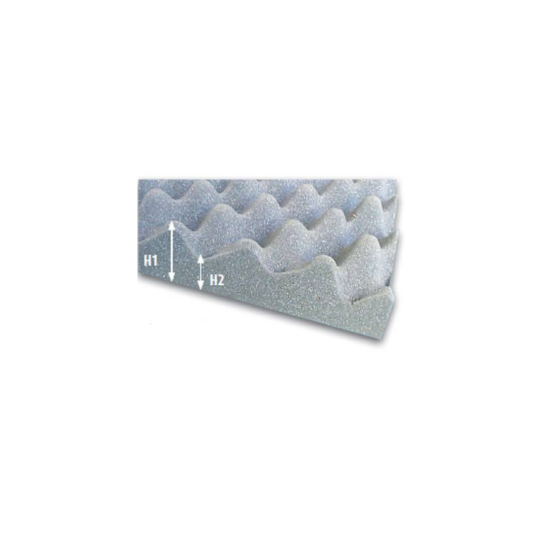 Foam plate flexible high resilience convoluted foam plate soundproofing 150x200 cm