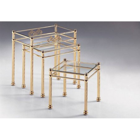 Coffee table trundle brass Napoli
