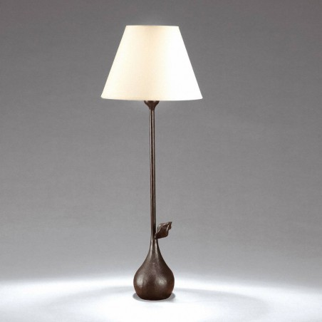 Small Bronze table lamp CLARA  - Brown bronze