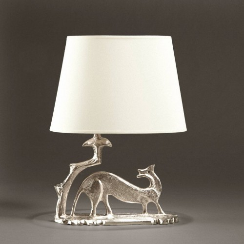 Bronze table lamp DONNOLLA - Bronze nickel