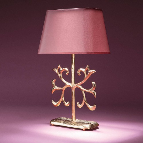 Bronze table lamp POLKA - Bronze gold