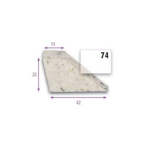Bourrelet profilé mousse pour assise et dossier type PR74