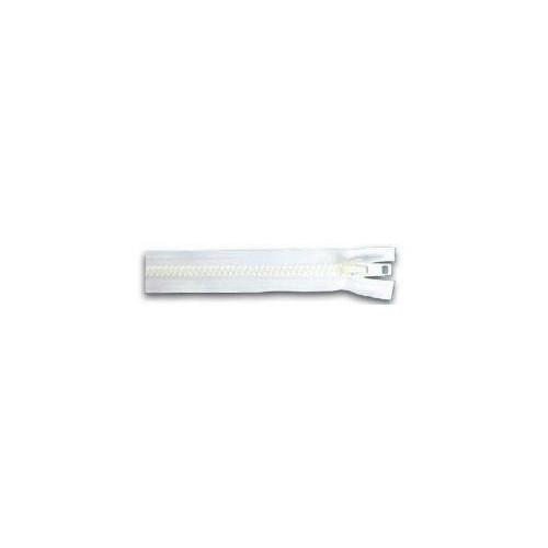 Fermeture éclair YKK séparable simple tirette chaine 10 mm blanc longueur 50 cm