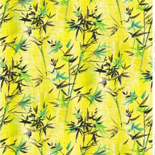 Tissu lin Bamboo Trellis coloris Acacia FDG2299-01 - Designers Guild
