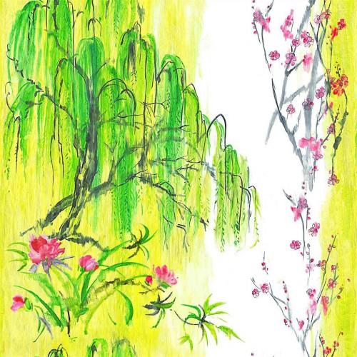 Tissu lin Willow Flower - Designers Guild