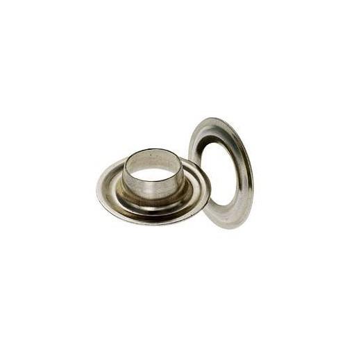 Œillet de bâche rond laiton nickelé 10 mm - Miederhoff