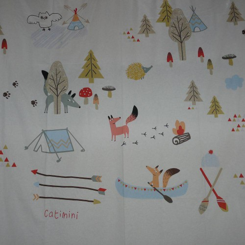 Catimini fabric Tipis and canoes collection