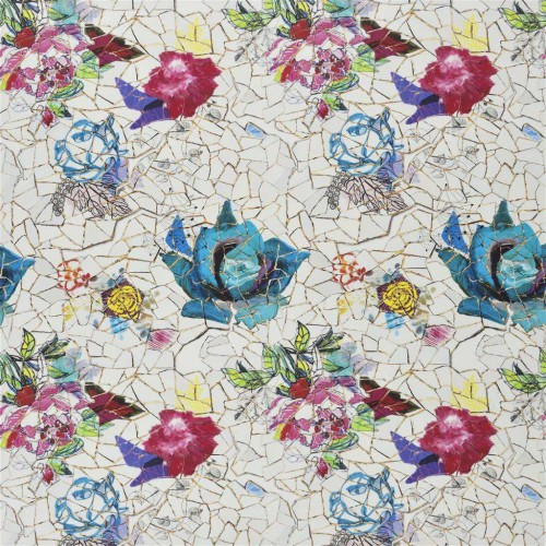 Tissu Éclats de Roses - Christian Lacroix coloris FCL2488/01 nacre
