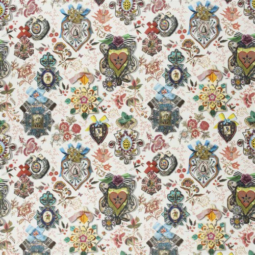 Tissu Cocarde - Christian Lacroix coloris FCL2493/02 glauque