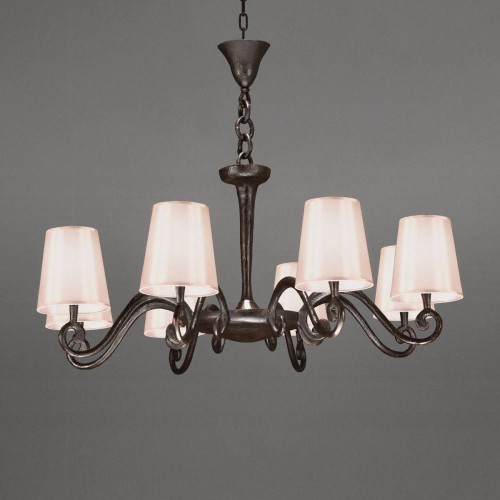 Bronze chandelier AMBOISE - Brown bronze