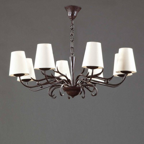 Small bronze chandelier ALTESSE - Brown bronze