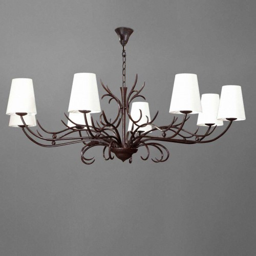 Large bronze chandelier ALTESSE - Brown bronze