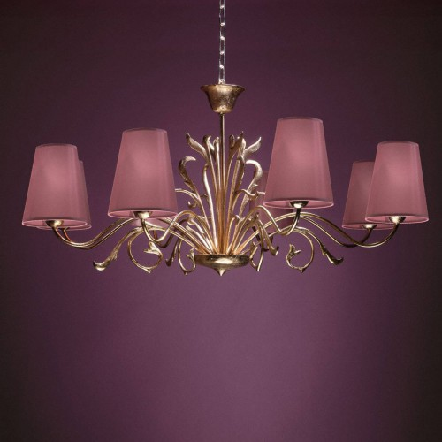 Small bronze chandelier TOLEDE - Bronze gold