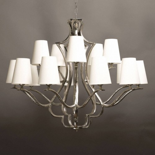 Bronze chandelier QUINZE - Bronze nickel