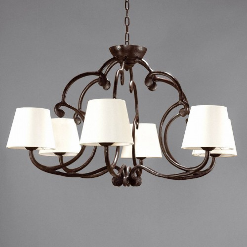 Small bronze chandelier CHAMBORD - Brown bronze