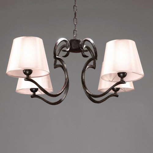 Bronze chandelier RINCEAU - Brown bronze