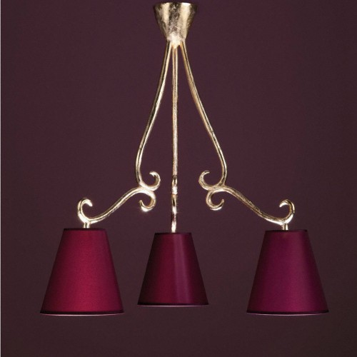 Bronze chandelier VOLUTE - Bronze gold