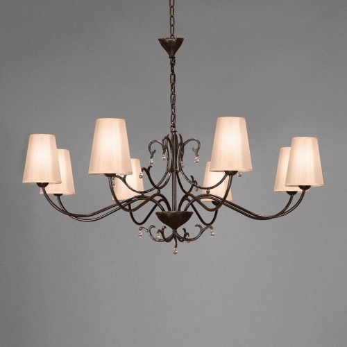 Small bronze chandelier SIECLE 8 - Brown bronze