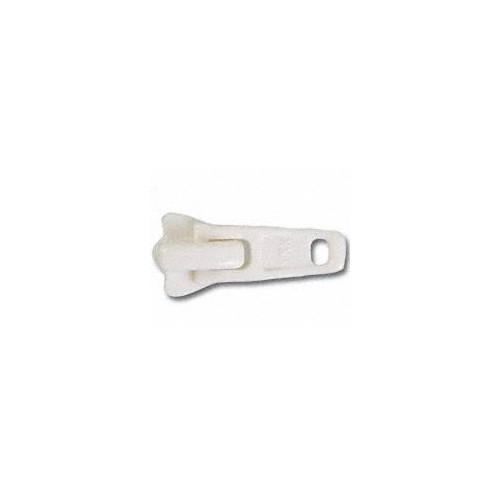 Curseur simple tirette pour fermeture éclair YKK chaine 5 mm coloris blanc