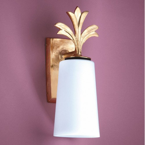 Bronze outdoor sconce FEUILLE - Bronze gold