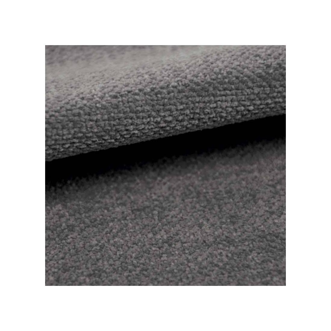 Tissu velours plat Amara Casal coloris acier