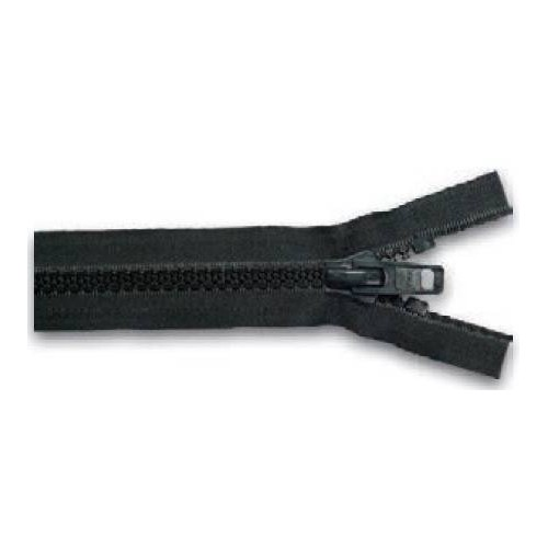 YKK zipper separable simple zipper chain 10mm black - 60 cm