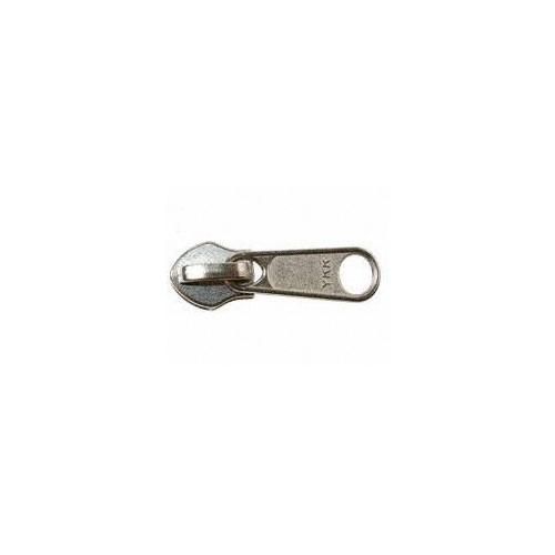 Curseur simple tirette spirale pour fermeture éclair YKK chaine 10 mm