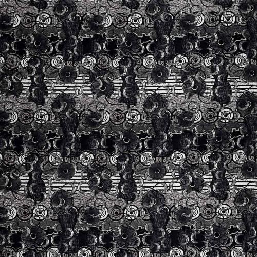 Tissu suédine Meltingpot - Jean Paul Gaultier coloris 3452/01 graphite