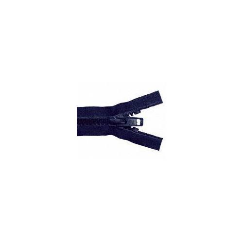 Fermeture éclair YKK séparable simple tirette chaine 10 mm bleu marine