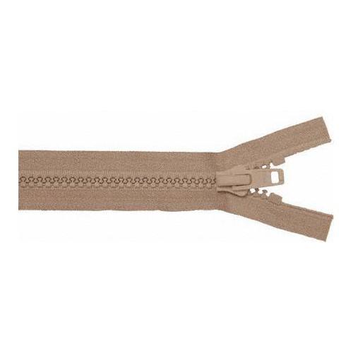 Fermeture éclair YKK séparable simple tirette chaine 10 mm marron longueur 100 cm