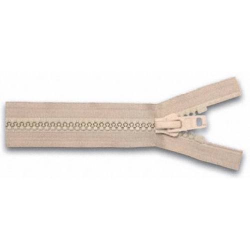Fermeture éclair YKK séparable simple tirette chaine 10 mm beige