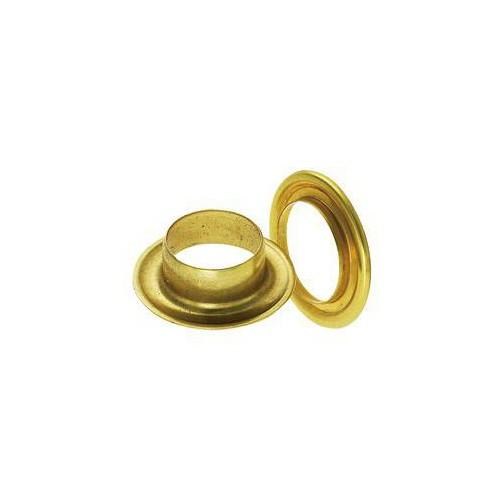 Œillet de bâche rond laiton jaune 16 mm - Miederhoff