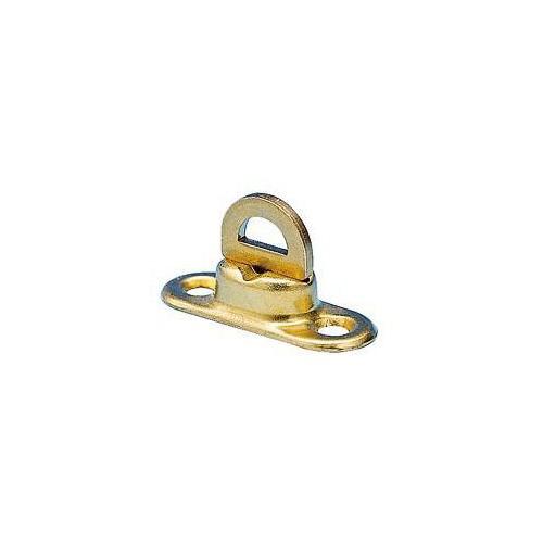 Tourniquet ovale laiton jaune 11 x 35 mm pour Œillet 17 x 11 mm - Miederhoff