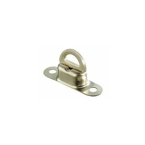 Tourniquet ovale laiton nickelé 11 x 41 mm pour Œillet 22,5 x 13,5 mm - Miederhoff