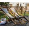 Seat canvas for sunbathing Eva by Balliu white canvas