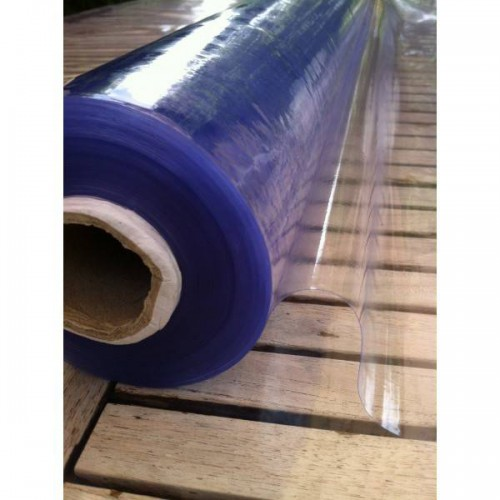 Roll of 30 ml of flexible cristal clear plastic 0.65 mm (65/100) on 140 cm wide