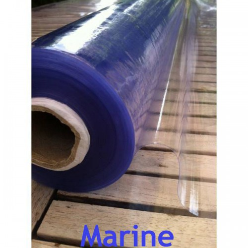 Roll of 40 ml of flexible MARINE UV cristal clear plastic 0.4 mm (40/100) on 140 cm wide