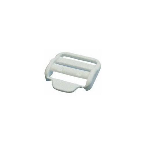 Boucle plastique 25 mm coloris blanc