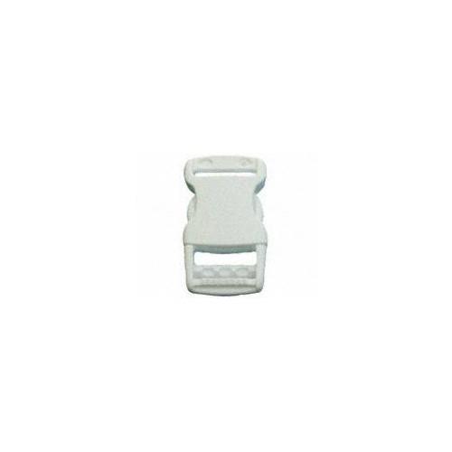Boucle clips plastique blanche pour sangles de 25 mm