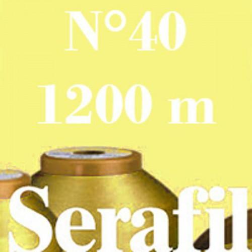 Boite de 5 cônes de fil à coudre Serafil n°40 bobine de 1200 ml