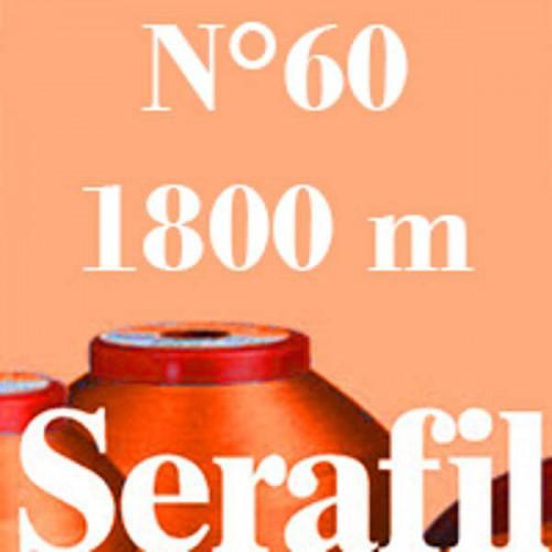 Boite de 5 cônes de fil à coudre Serafil n°60 bobine de 1800 ml