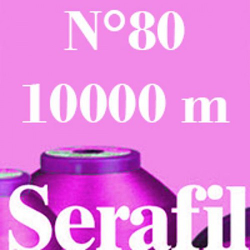 Boite de 4 cônes de fil à coudre Serafil n°80 bobine de 10000 ml