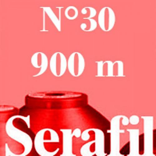 Boite de 5 cônes de fil à coudre Serafil n°30 bobine de 900 ml