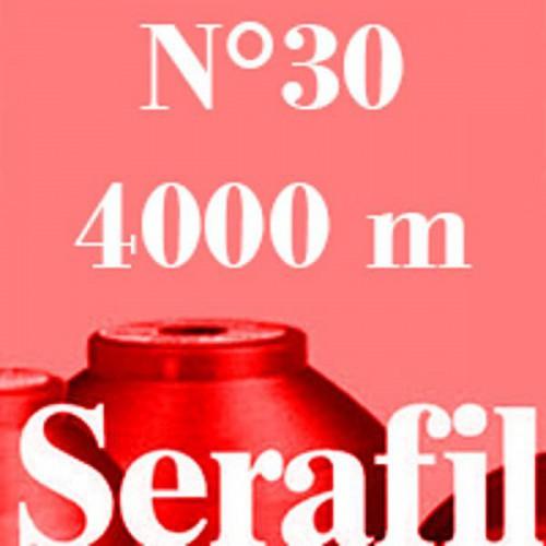 Boite de 4 cônes de fil à coudre Serafil n°30 bobine de 4000 ml