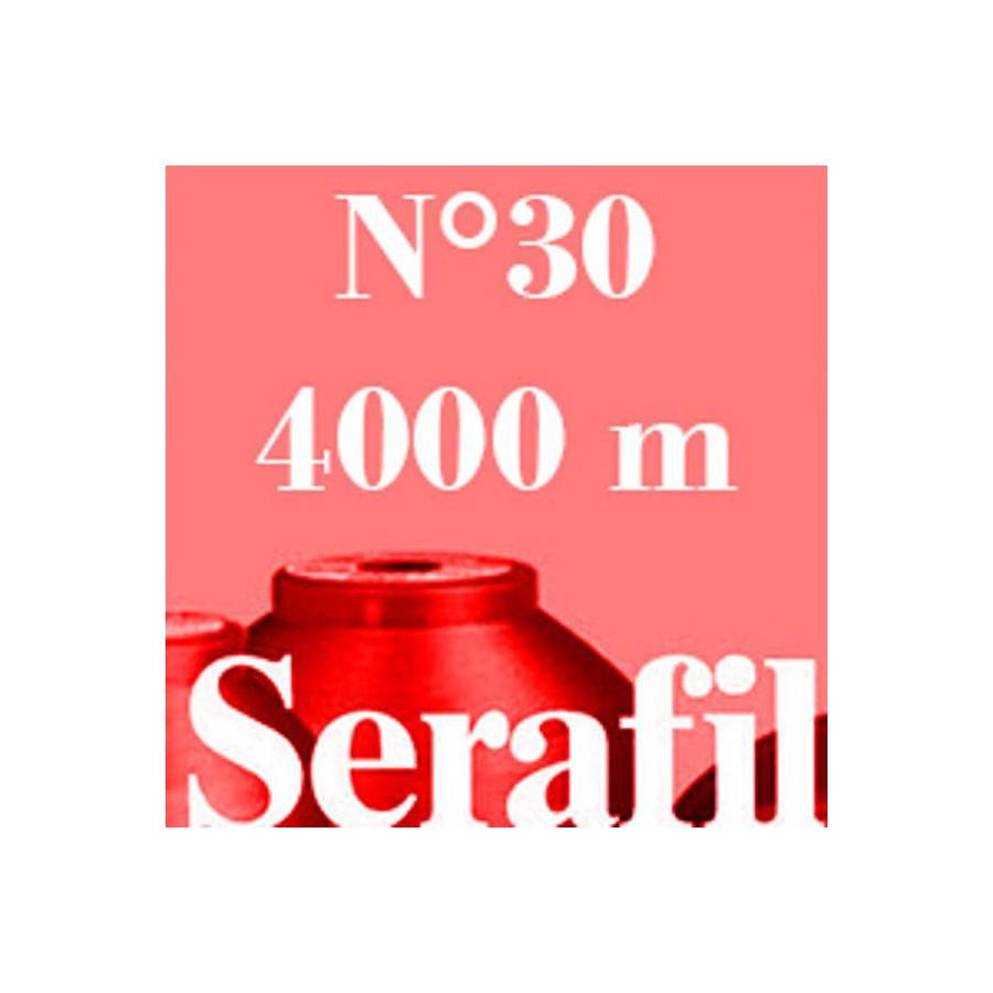 Box of 4 Sewing thread Serafil n°30 spool of 4000 ml