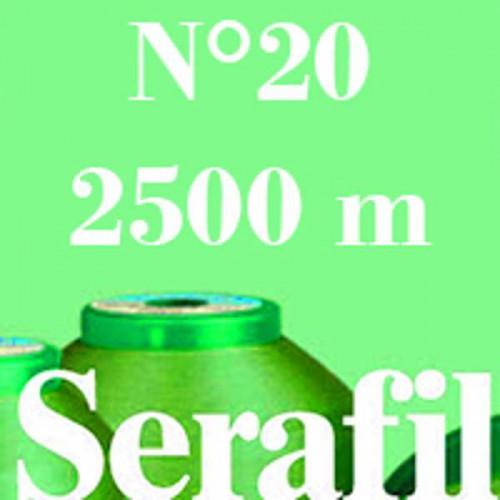 Boite de 4 cônes de fil à coudre Serafil n°20 bobine de 2500 ml